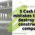 5 Cash flow mistakes that can destroy your construction company